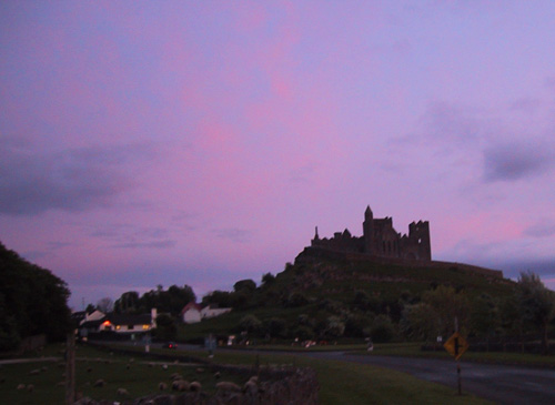 Rock of Cashel at sunset