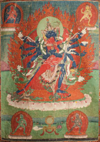 Tibetan Thangka - Heruka and Consort