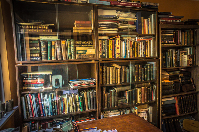 Jim's study bookcases