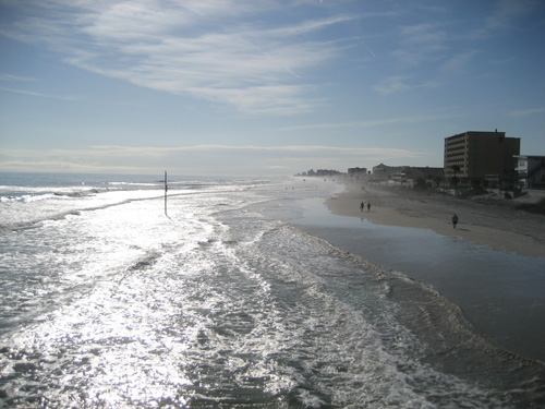 looking south from Daytona Beach Pier