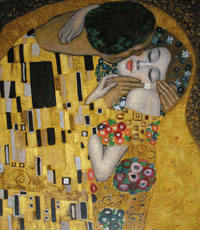 Klimt: The Kiss detail