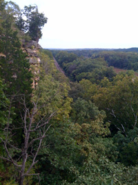 From the bluffs at Castlewood
