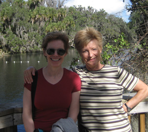 Susan and Pat at Blue Spring Park, Florida