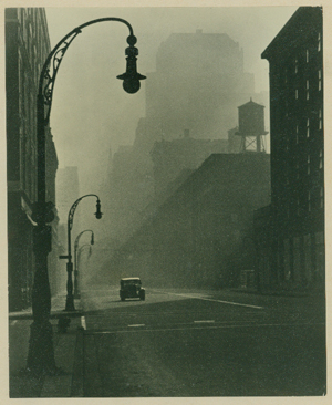 "Photo by Paul Wall, Chicago. ""Morning Downtown"" 1st prize Popular Photography magazine, circa 1940."
