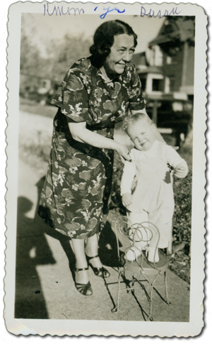 Kitty Mom and Susan, 1949