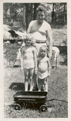 around 1953-Ewald, Tom & me - a little Tobacco Road, but hey it was the weekend in the backwoods of Missouri
